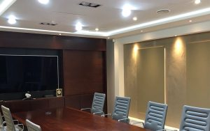 Energy Efficient LED Lighting Installation in Commercial Board Room